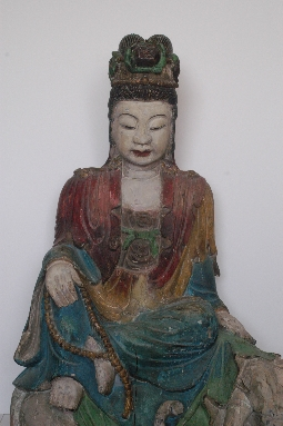 CHINESE-ART GUANYING MING dynasty wood 81cm. foto 2