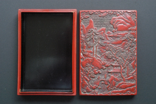 CHINESE RED lacquer box MING period 4.4*13*19 cm. foto 2