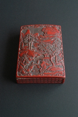 CHINESE RED lacquer box MING period 4.4*13*19 cm. foto 5