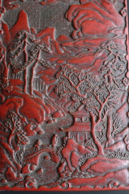 CHINESE RED lacquer box MING period 4.4*13*19 cm. foto 6