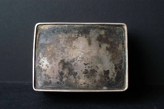 JAPANESE SILVER BOX, ÍRIS signed 19th 2.8*6*8.2 cm. foto 6