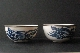 CHINESE BLUE and WHITE porcelain pair bowls 19th Century 10.7 cm diam silber foto 4