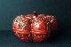 CHINESE RED lacquer box marrow 19th Century 15 cm. diam foto 4