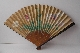JAPANESE FAN lacquer GOLD and SILVER makie signed 28.7 cm. foto 3