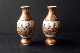 SATSUMA pair miniature vases meiji period  8.8 cm sign. foto 2