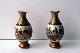 SATSUMA pair miniature vases meiji period  8.8 cm sign. foto 3